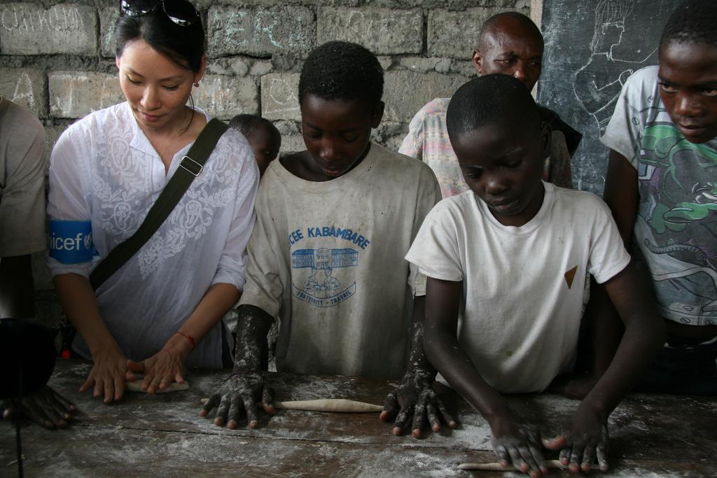 UNICEF - Goodwill Ambassador Lucy Liu At Congo