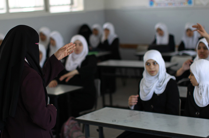 UNICEF Schools In Gaza Re-Open After Winter Break Students Face Dark, Cold Classrooms